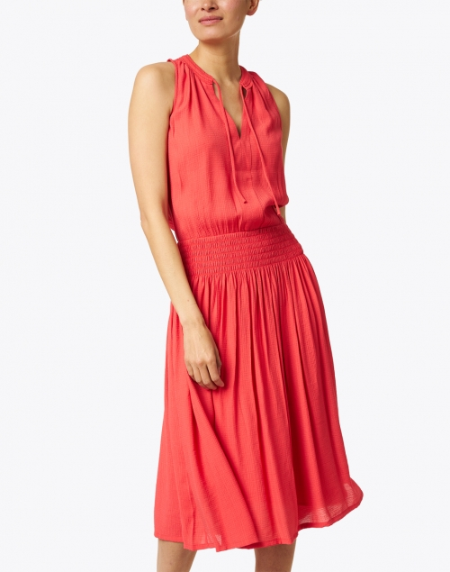 Brochu Walker - Francine Vermillion Red Crinkled Dress