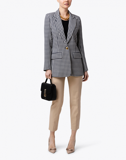 Smythe - Navy and White Check Blazer