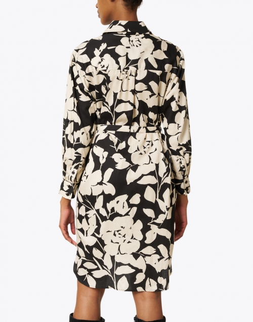 Finley - Carter Black and Ivory Floral Cotton Shirt Dress