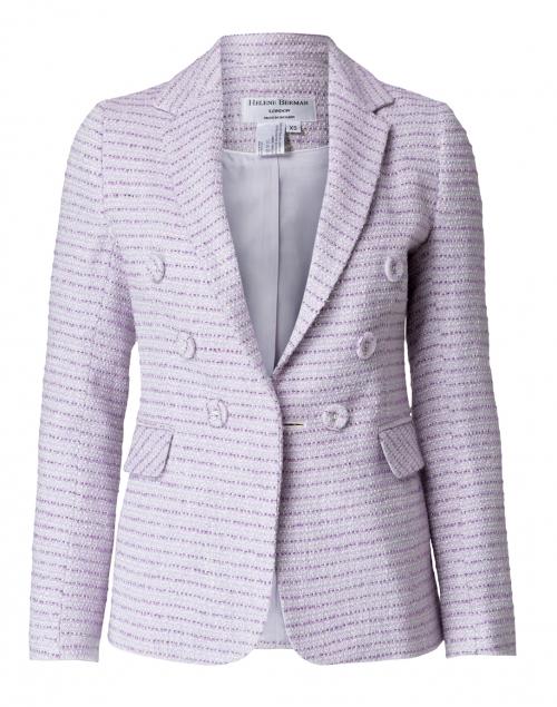 Helene Berman - Lilac and White Lurex Tweed Blazer