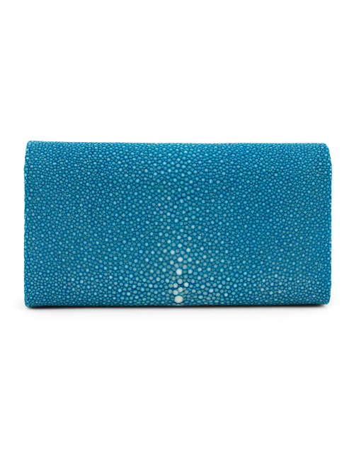 J Markell - Baby Grande Ocean Blue Stingray Clutch