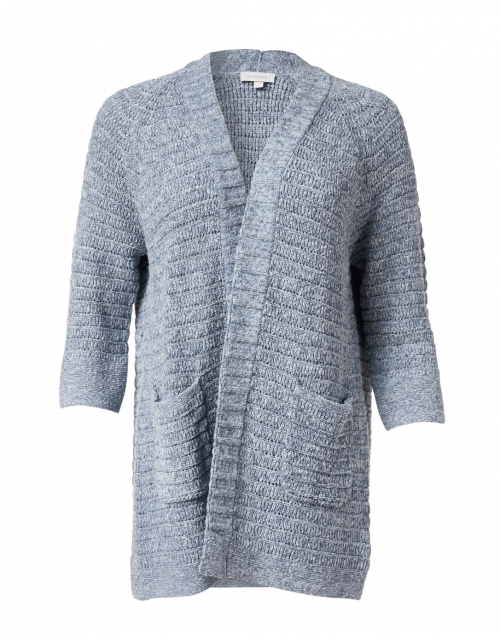 Kinross - Cove Blue Cotton Open Cardigan