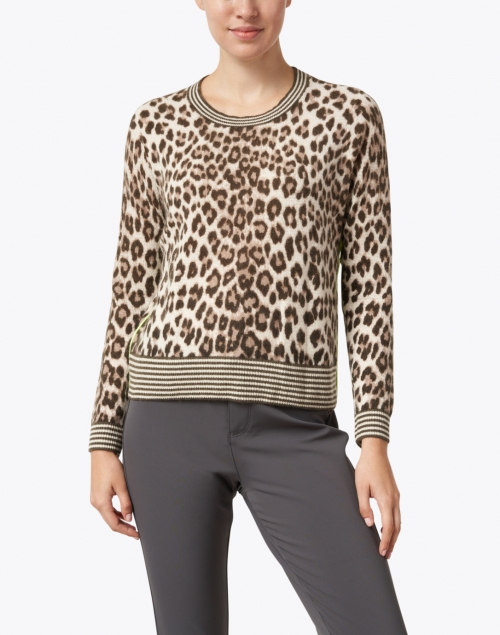 Lisa Todd - Spotted Beige Animal Printed Cashmere Sweater