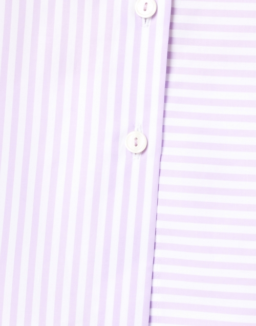 Hinson Wu - Margot Lilac and White Stripe Cotton Shirt