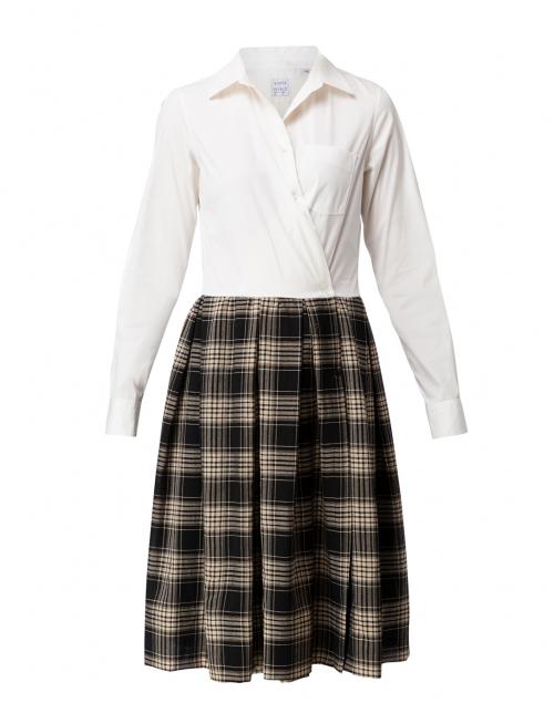 Sara Roka - Elenat Winter Plaid Wool Shirt Dress