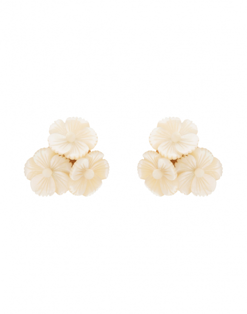 Jennifer Behr - Tallulah Mother of Pearl Flower Stud Earrings