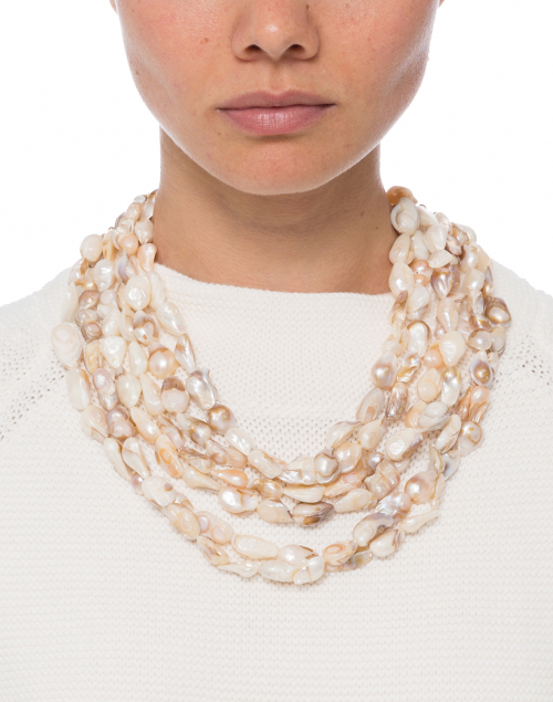 Kenneth Jay Lane - Freshwater Pearl Multi-Strand Necklace
