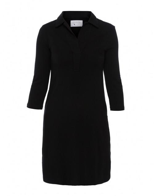 Southcott - Black Henley Bamboo-Cotton Dress