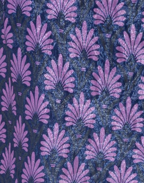 Chiara Boni La Petite Robe - Matelasse Blue Violet Swing Coat