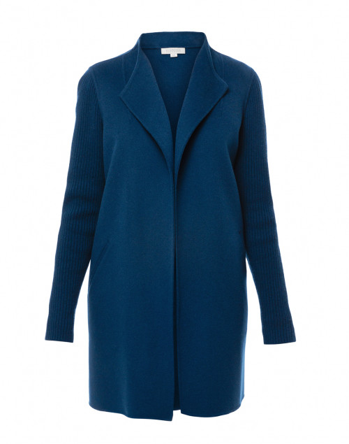 Kinross - Winter Teal Blue Wool Cashmere Coat