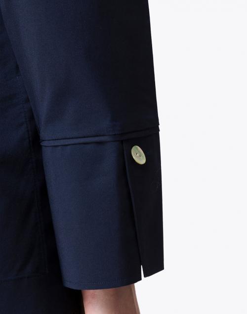 Hinson Wu - Celine Navy Stretch Cotton Shirt