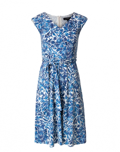 Weekend Max Mara Thomas Blue and Ivory Floral Cotton Dress