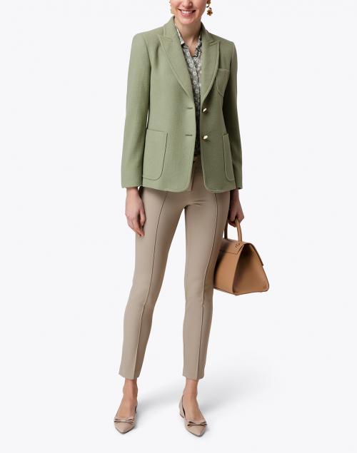 Max Mara Zero Pastel Green Cashmere Blazer