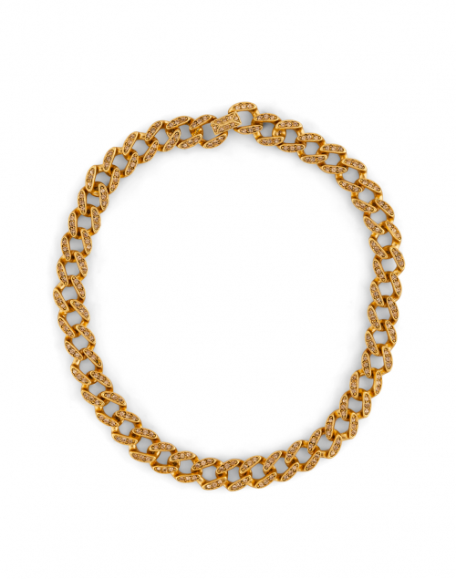 Kenneth Jay Lane - Gold Topaz Pave Link Necklace
