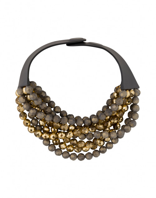 Fairchild Baldwin - Bella Two Tone Grey and Gold Beaded Necklace