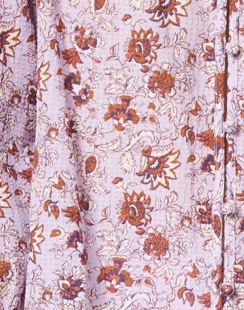 Veronica Beard - Viveca Lavender Floral Print Cotton Top