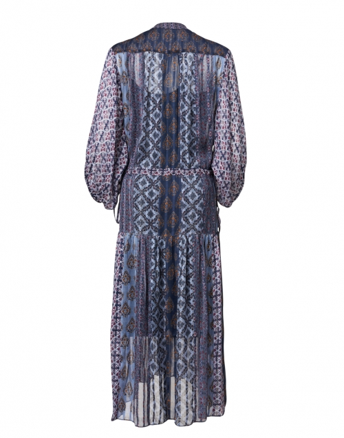 Megan Park - Melike Purple and Blue Geo Print Chiffon Dress