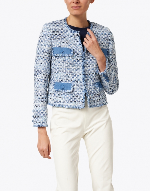 Weill - Blue and White Tweed Jacket