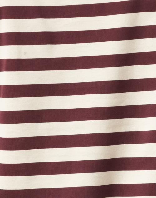Weekend Max Mara - Ritmo Plum and Beige Striped Cotton Tee