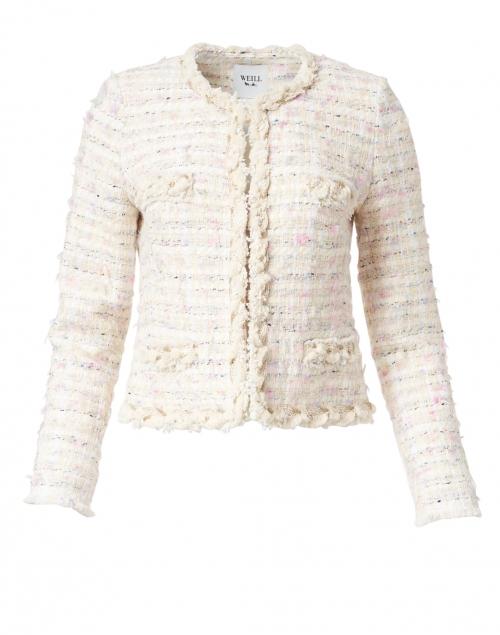 Weill - Celyne Cream Lurex Tweed Jacket