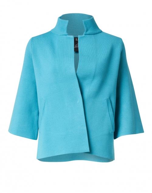J'Envie - Lake Blue Viscose Swing Jacket