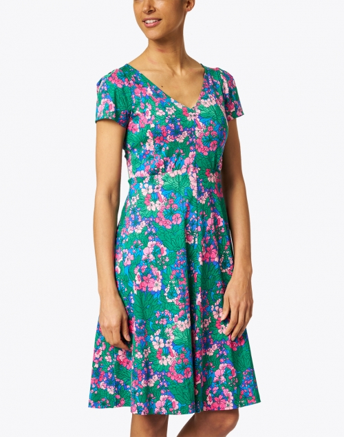 Weekend Max Mara - Nice Pink and Multi Floral Print Cotton Jersey Dress
