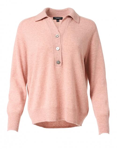 Repeat Cashmere - Rose Quartz Cashmere Henley Sweater