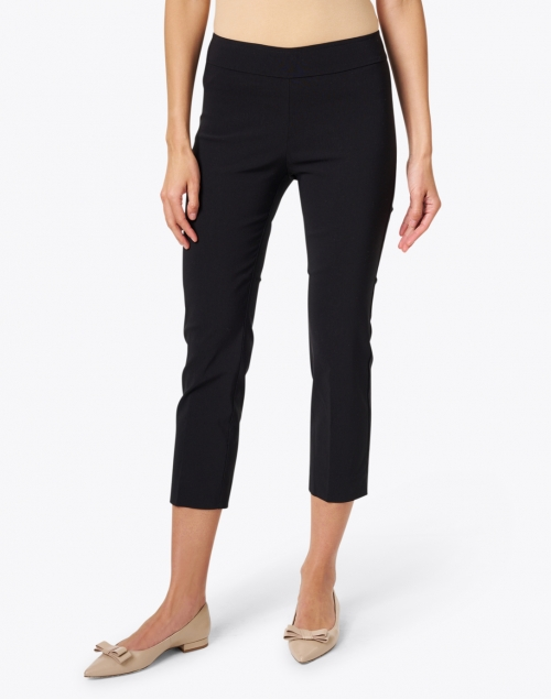 Avenue Montaigne - Brigitte Black Cropped Pull-On Pant