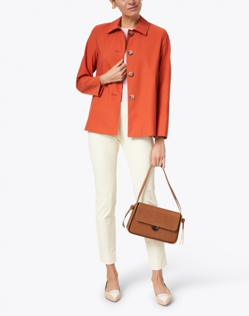 Harris Wharf London - Dusty Coral Short Loden Light Techno Jacket