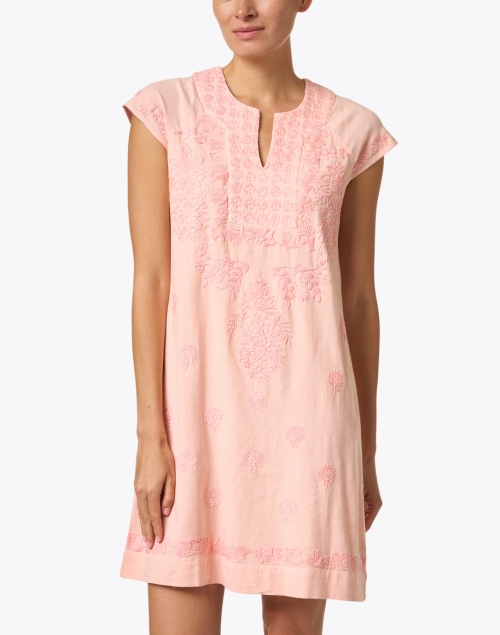 Roller Rabbit - Faith Coral Embroidered Cotton Dress