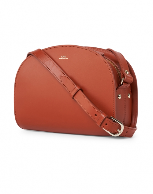 A.P.C. - Orange Demi Lune Leather Crossbody Bag