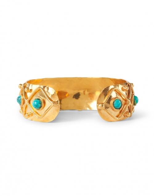 Sylvia Toledano - Turquoise Stoned Gold Cuff Bracelet