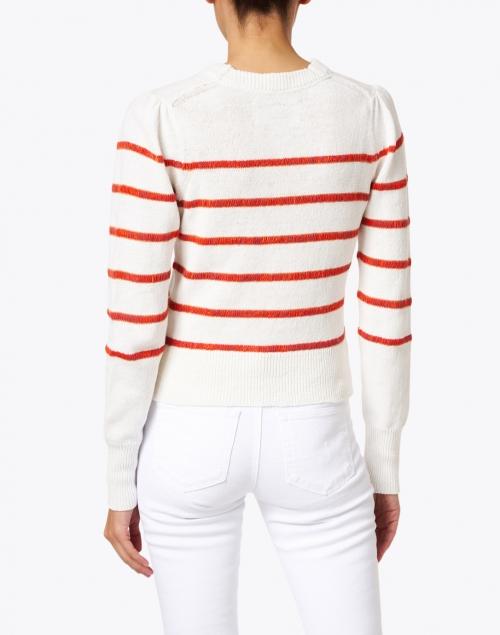 Brochu Walker - Danon Vermillion Red Stripe Linen Cotton Sweater