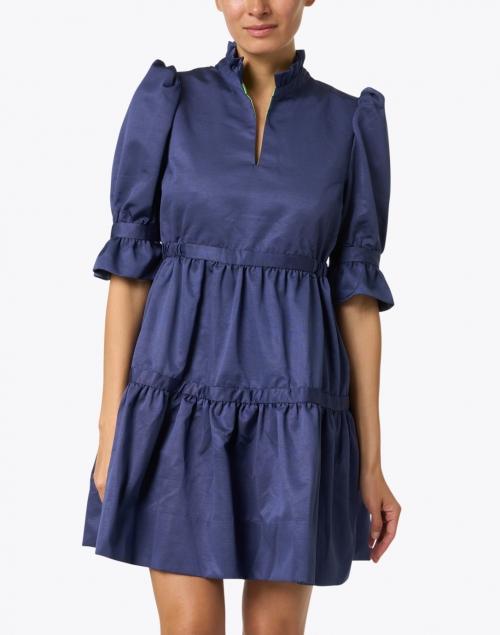 Gretchen Scott - Teardrop Navy Ruffled Dress