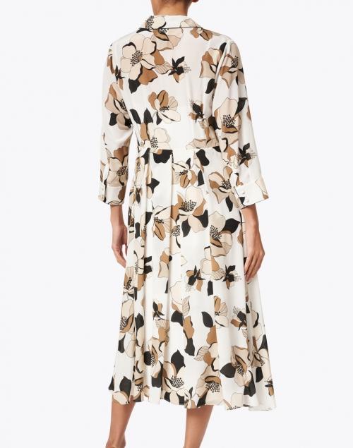 Max Mara Studio - Vignola White and Beige Floral Silk Dress
