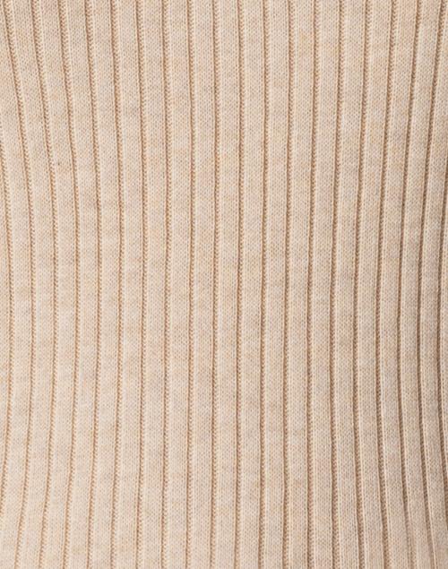 Blue - Shore Beige Ribbed Cotton Top