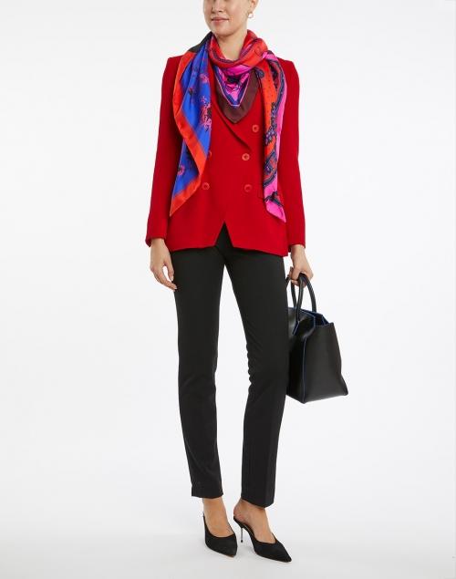 Santorelli - Paco Red Wool Crepe Blazer Jacket