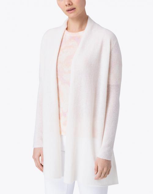 White + Warren - Pearl White Essential Cashmere Cardigan