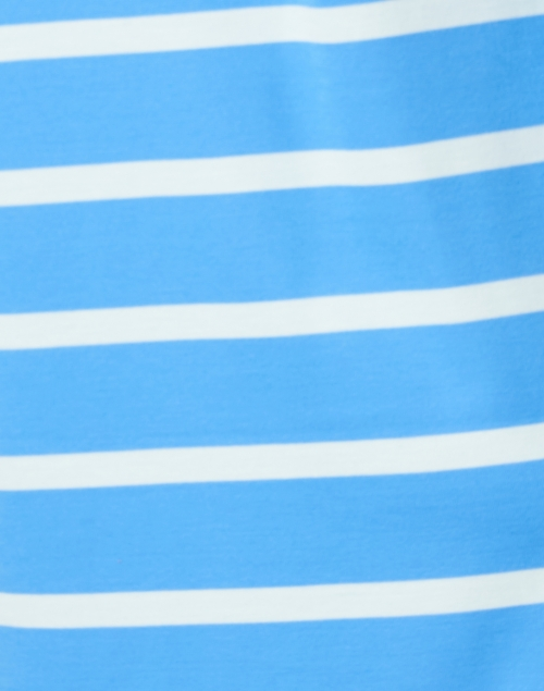 Sail to Sable - Marina Blue and White Stripe Stretch Ponte Dress