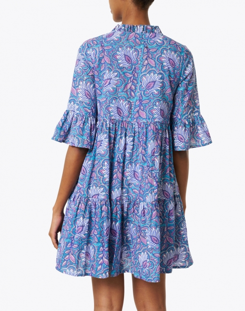 Jude Connally - Maria Blue Floral Cotton Voile Dress