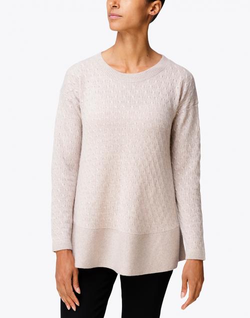 Cortland Park - St. Tropez Beige Cable Knit Cashmere Sweater