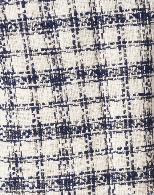 Escada Sport - Basail Navy and White Cotton Tweed Jacket