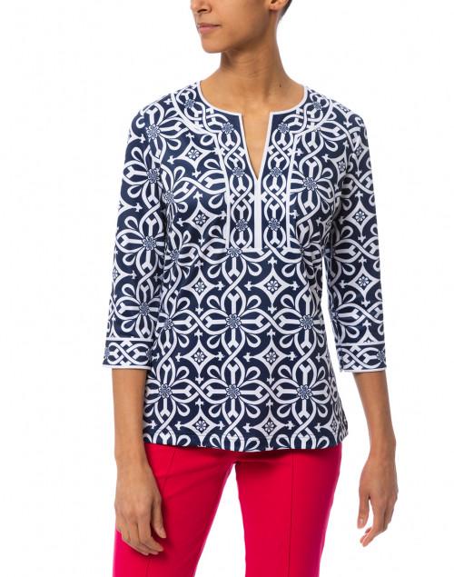 Gretchen Scott - Piazza Navy Printed Tunic