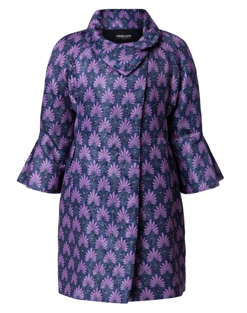 Chiara Boni La Petite Robe Matelasse Blue Violet Swing Coat