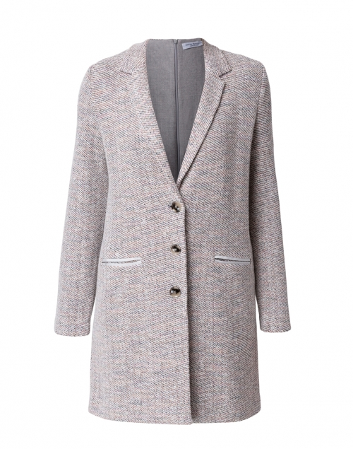 Amina Rubinacci - Dipinto Purple and White Knit Jacket