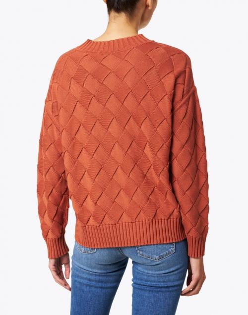 Margaret O'Leary - Auburn Orange Cotton Basketweave Sweater