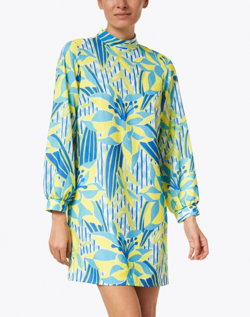 Sail to Sable - Palms of Paradise Print Crepe Dress