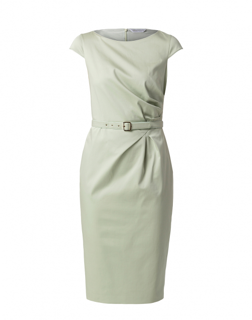Max Mara Neris Pastel Green Stretch Cotton Dress