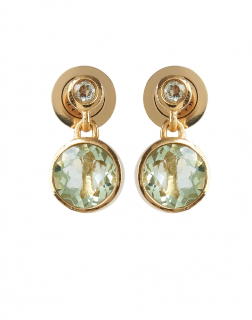 Dean Davidson - Green Amethyst Gold Drop Earrings