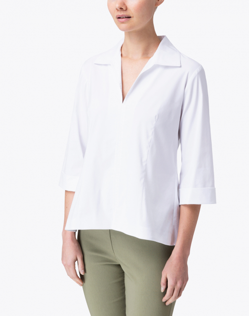 Finley - Swing White Poplin Shirt